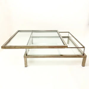 Vintage  sliding top coffee table attributed to Maison Jansen.