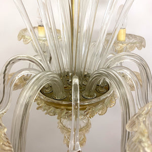 Stunning 1970's Murano chandelier by Barovier and Tosso .