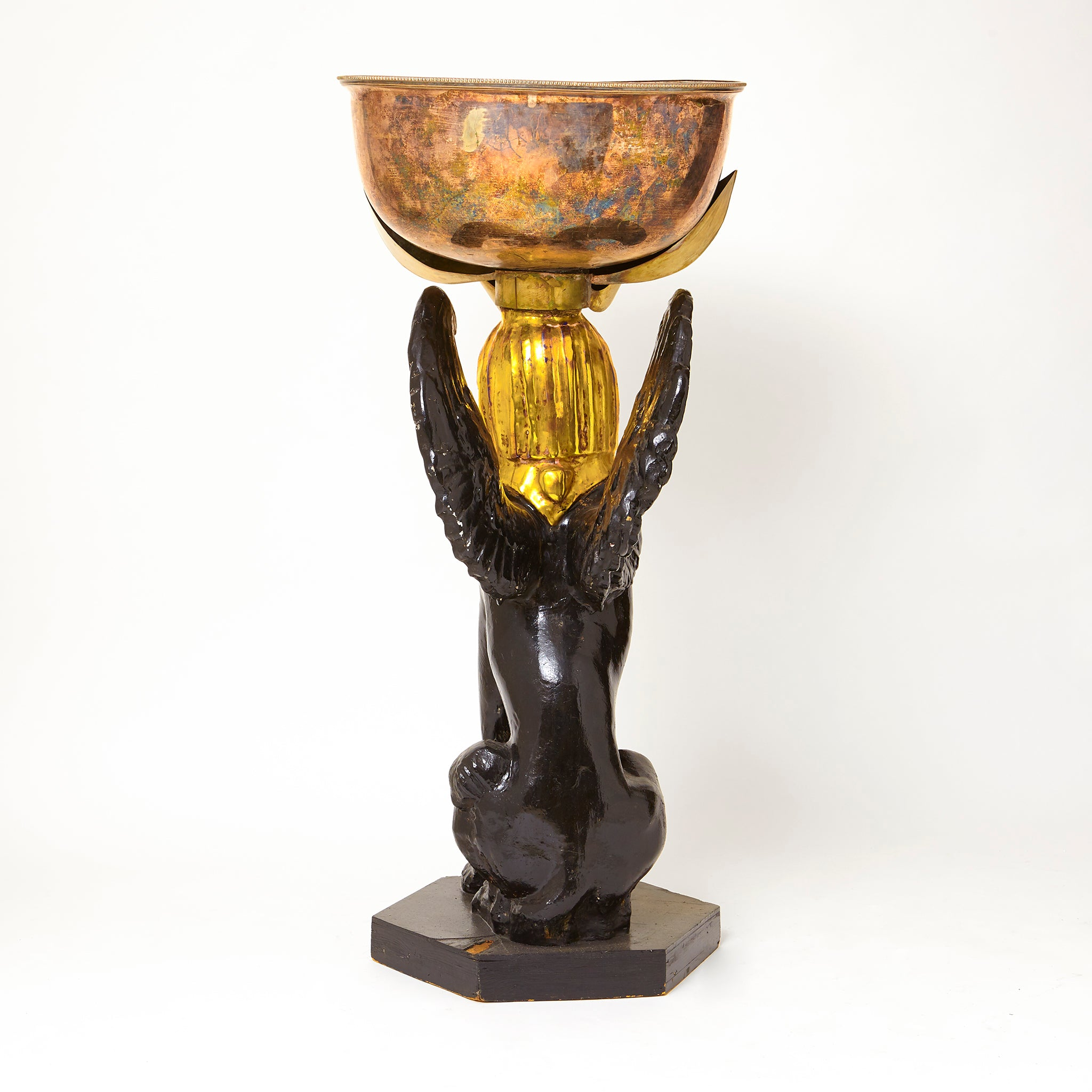 Anthony Redmile composition and silver plate Sphynx Planter.