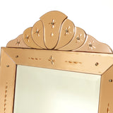 Very unusual french 'venetian' style mirror circa 1920 .