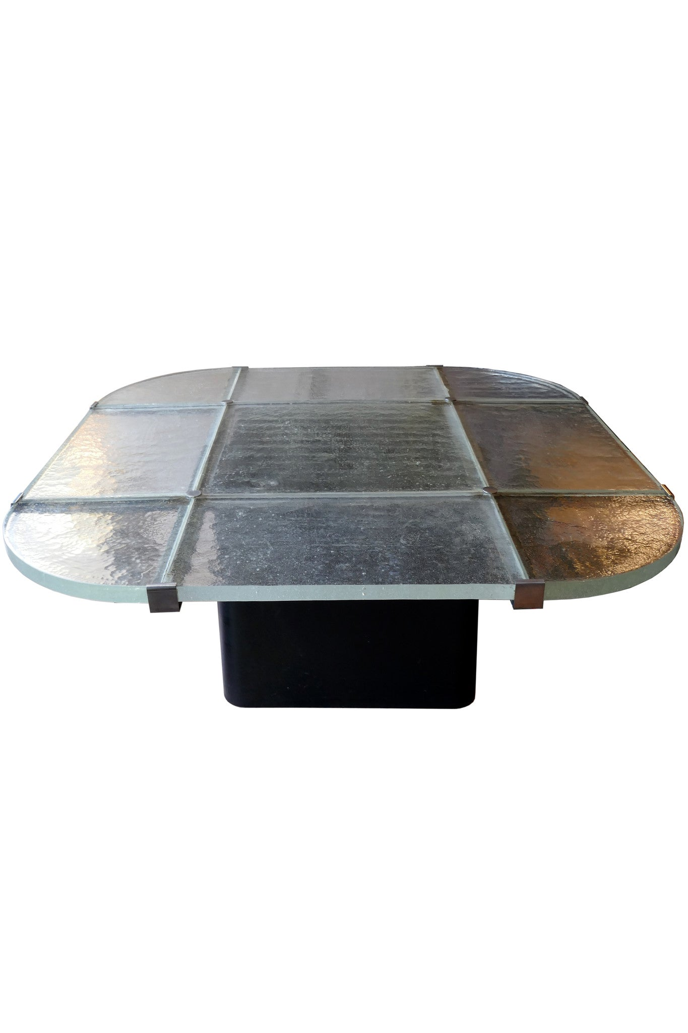 X Large  Coffee Table with impressive sand cast glass for De Sede
