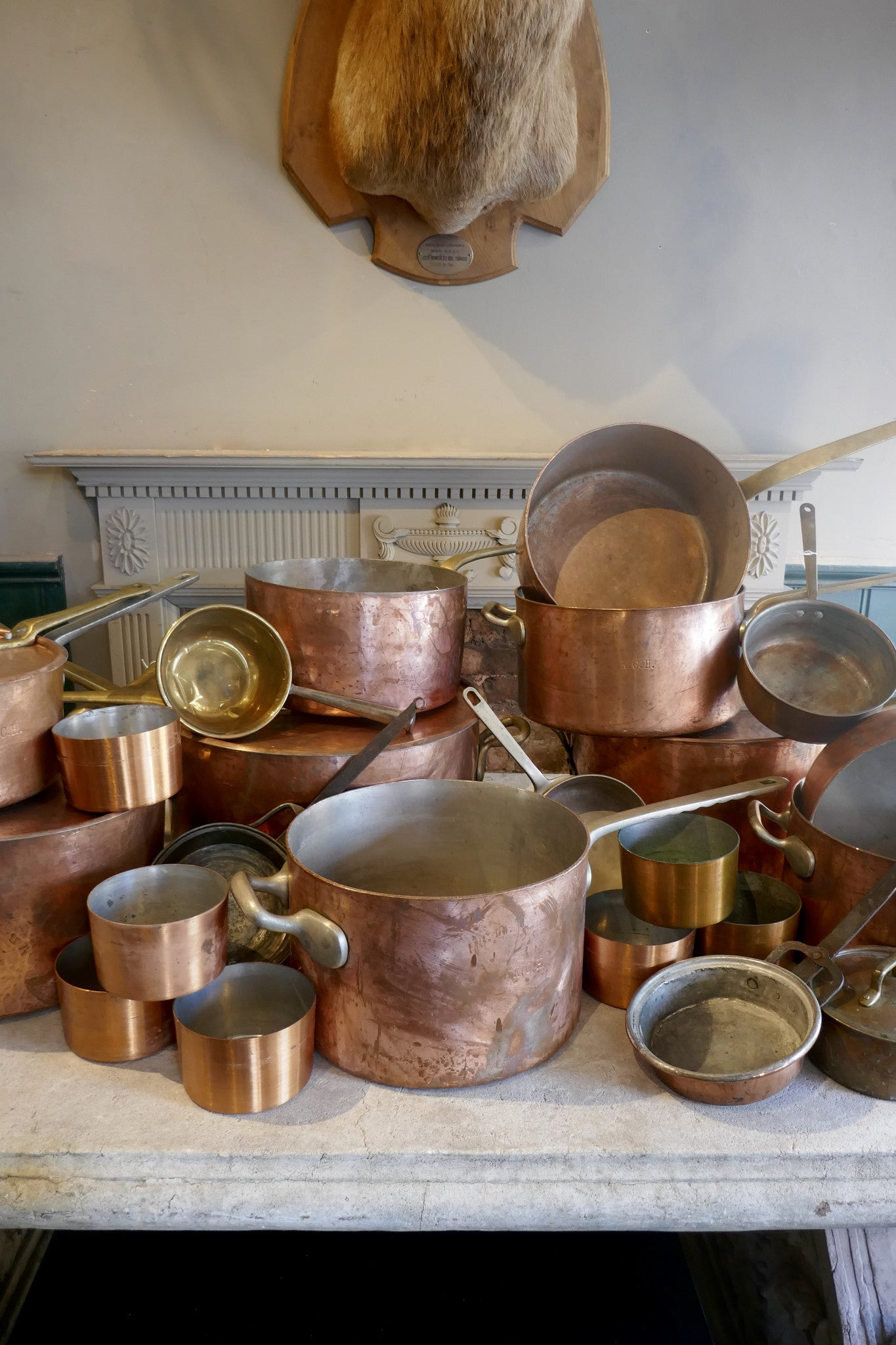 Collection of Copper Pans