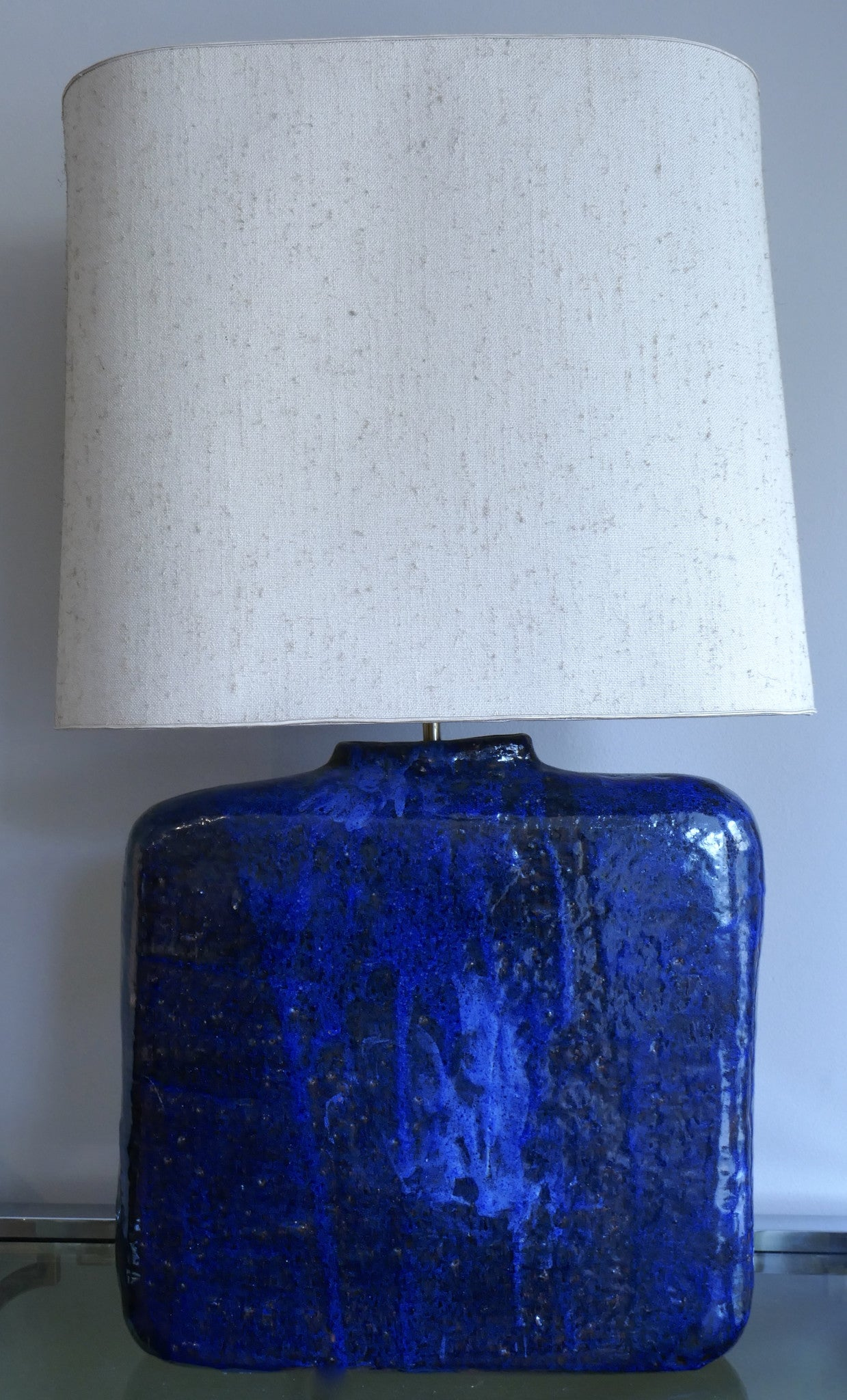 X Blue Ceramic Table Light