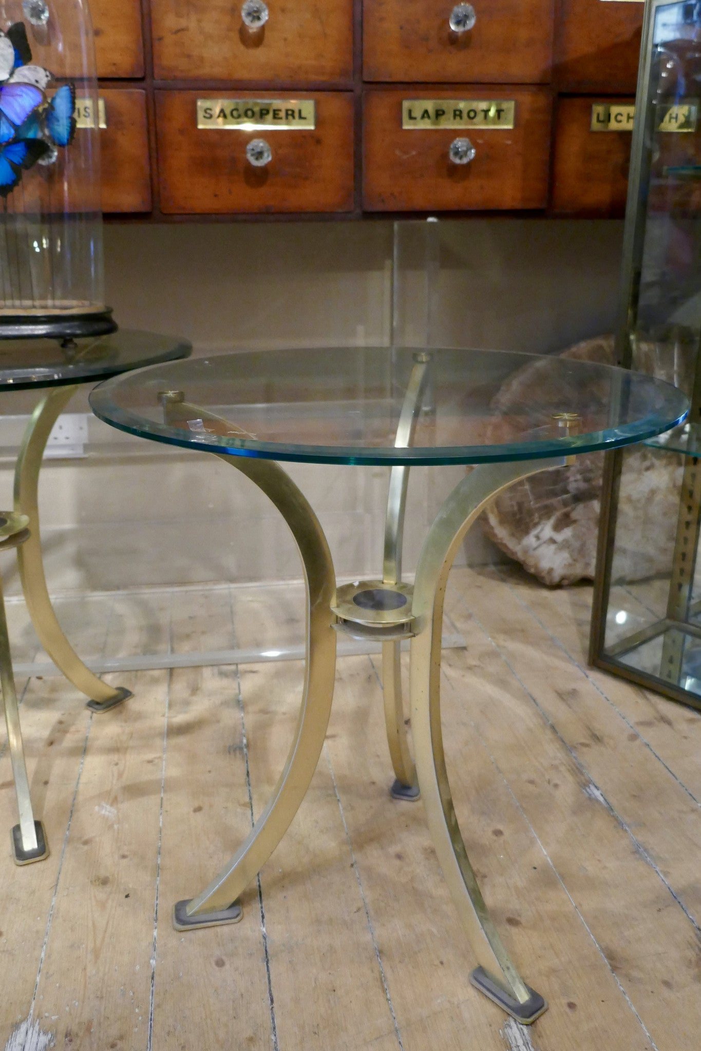X Pair of Side Tables