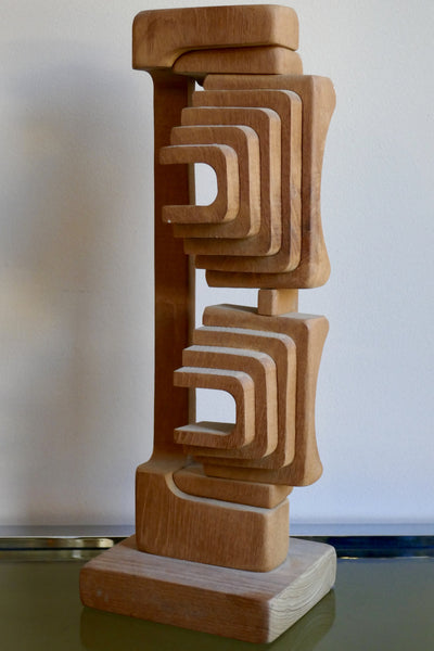 Wooden Abstract Sculpture by Brian Wilshire