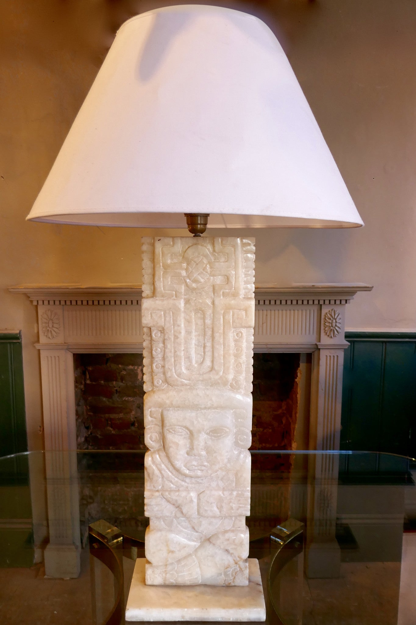 X Alabaster Table Lamp