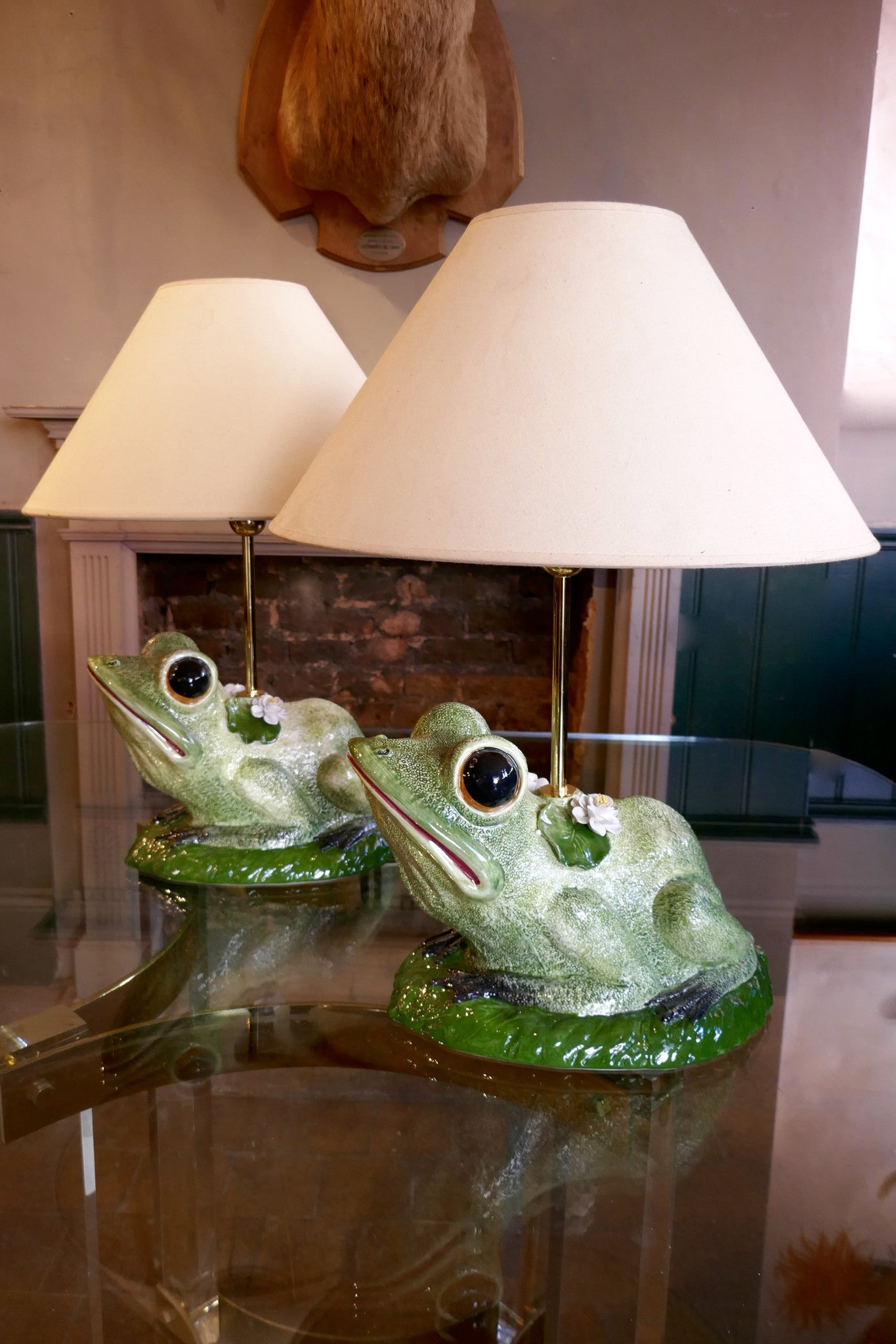 Pair of  fantasy Frog Table Lamps
