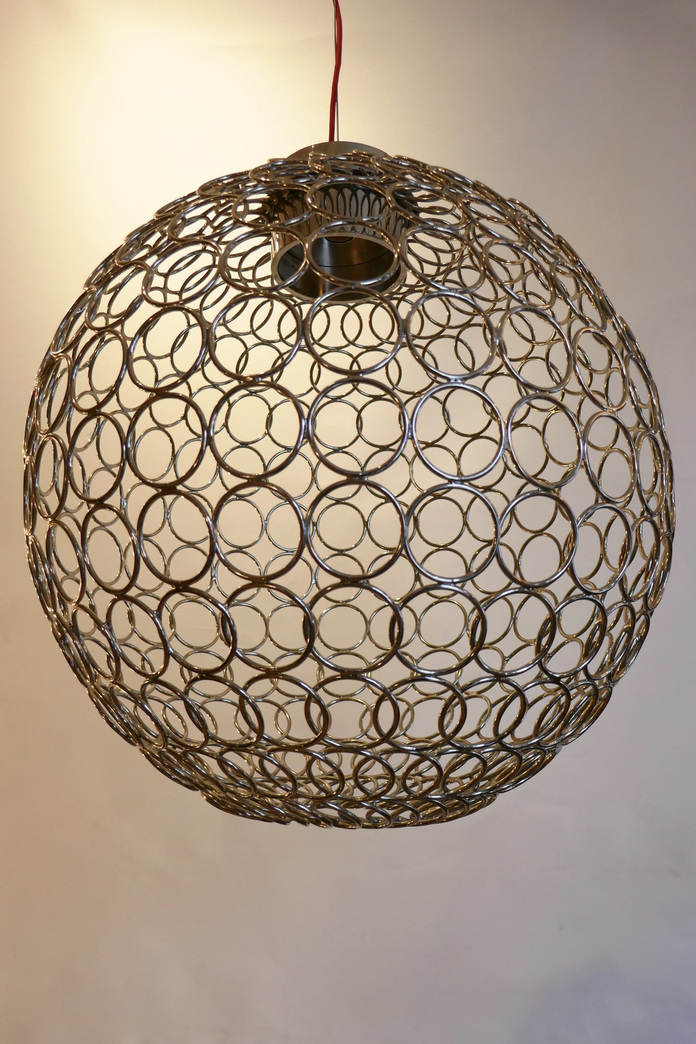 Steel Ring Chandelier by Bruno Rainaldi