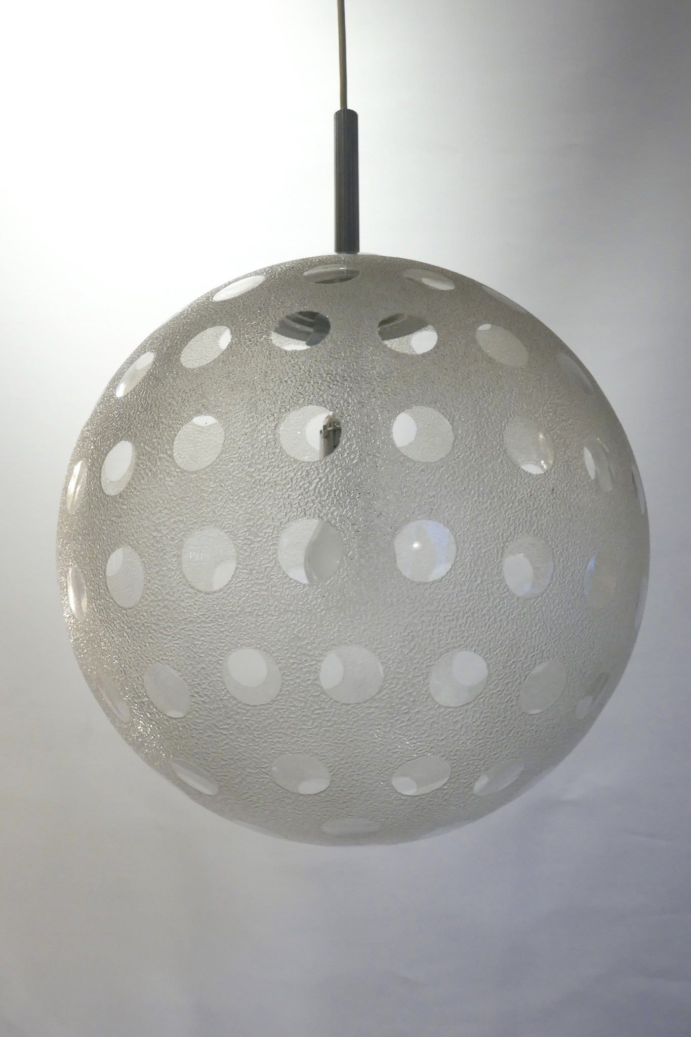 X Glass Ball Chandelier