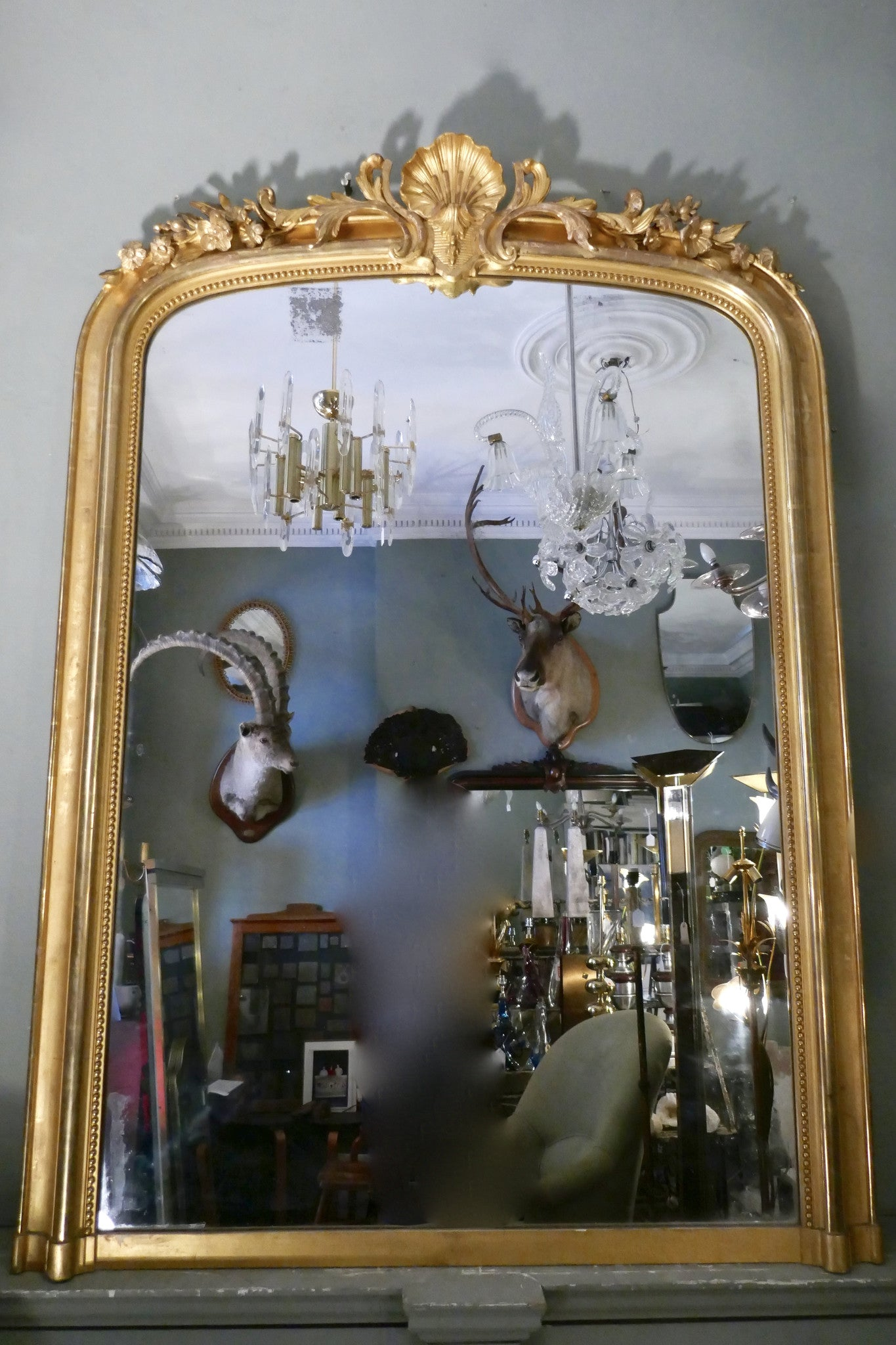 X Large Gilt French Mirror with original  glass