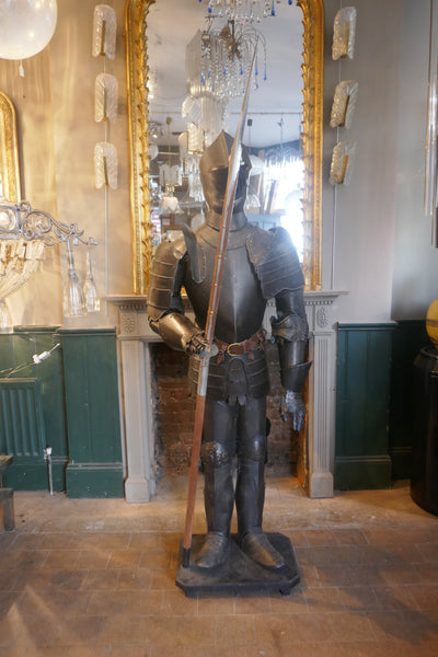 Full size museum display suit of armour  20th century .
