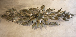 X Amazing Bronze  Ceiling Light with leaves and lemons.