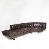 Stunning brown leather , sectional , Poltrona Frau sofa .