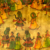 Large decorative painting on Board of an Indian wedding scene.