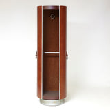 1970s leather rotating wardrobe with inset full length mirror by Guido Faleschini.