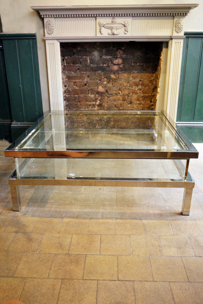 X Sliding Top coffee table