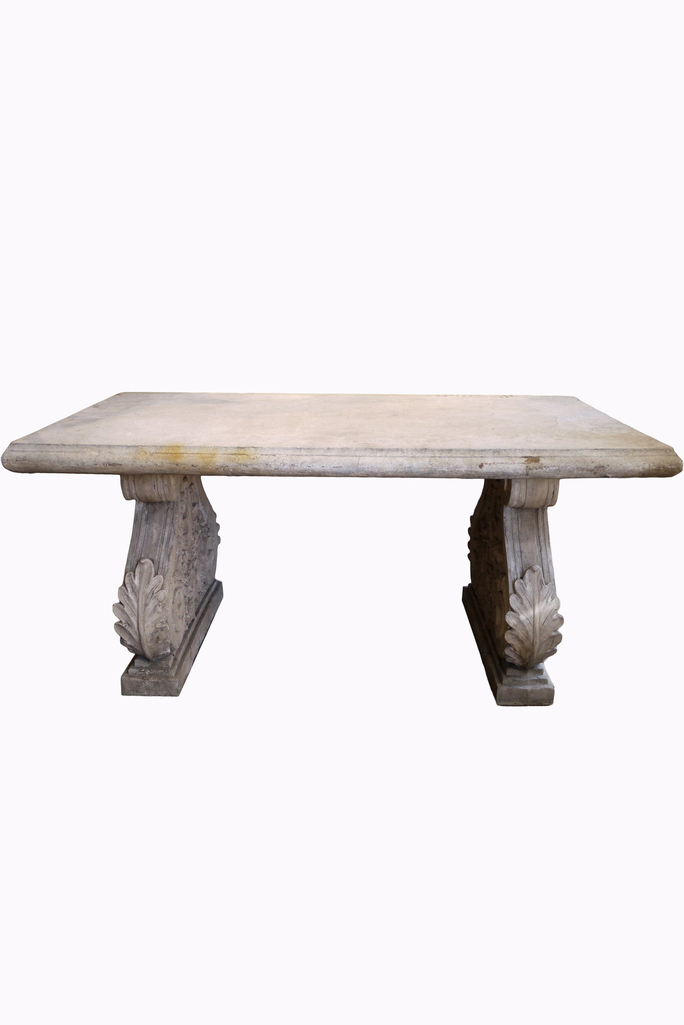X Large faux stone garden table