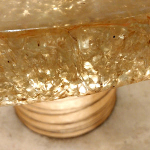 Fabulous French illuminated side Table with resin top  circa 1970.