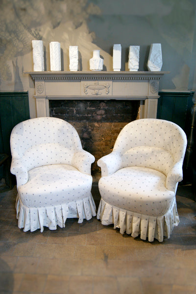 Pair of Bedroom Chairs with Floral Detailing