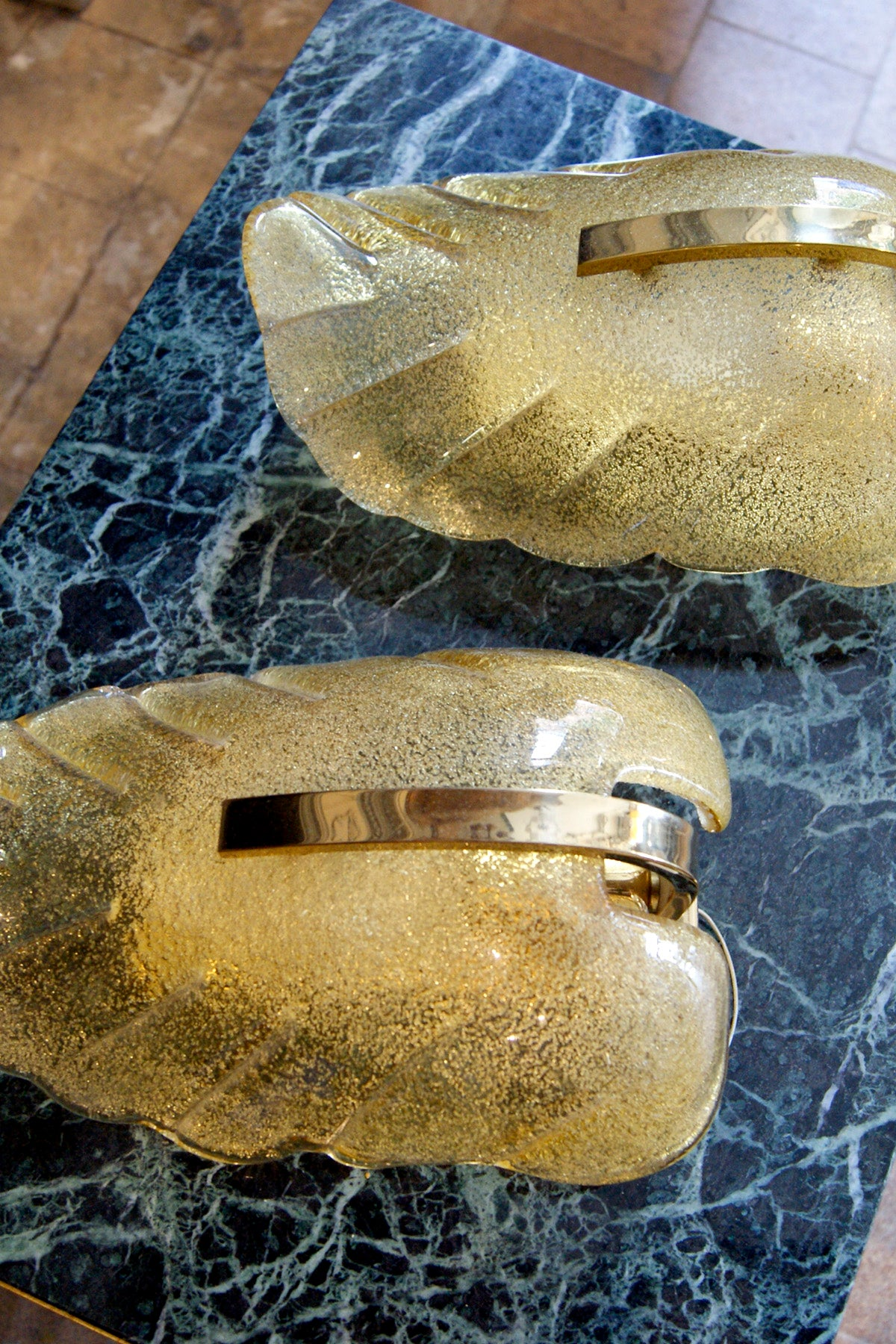 Murano Glass Gold Leaf Wall Lights