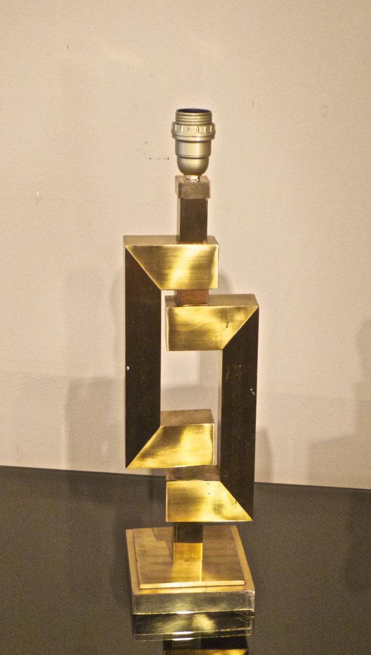 X 1970s fabulous quality Brass Lamp in the manner of Romeo Riga