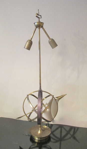 Bronze Armillary  Table Lamp