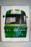 signed 1970's Print of a London Bus by Gerd Winner .