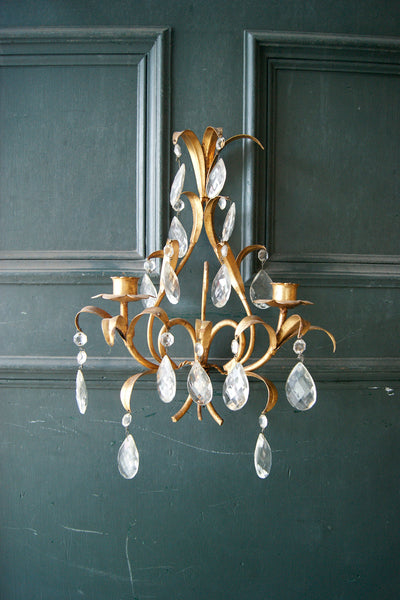 X Pair of Gold Gilt Wall Lights