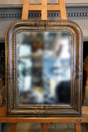 X Small french mirror with original glass plate circa 1900.
