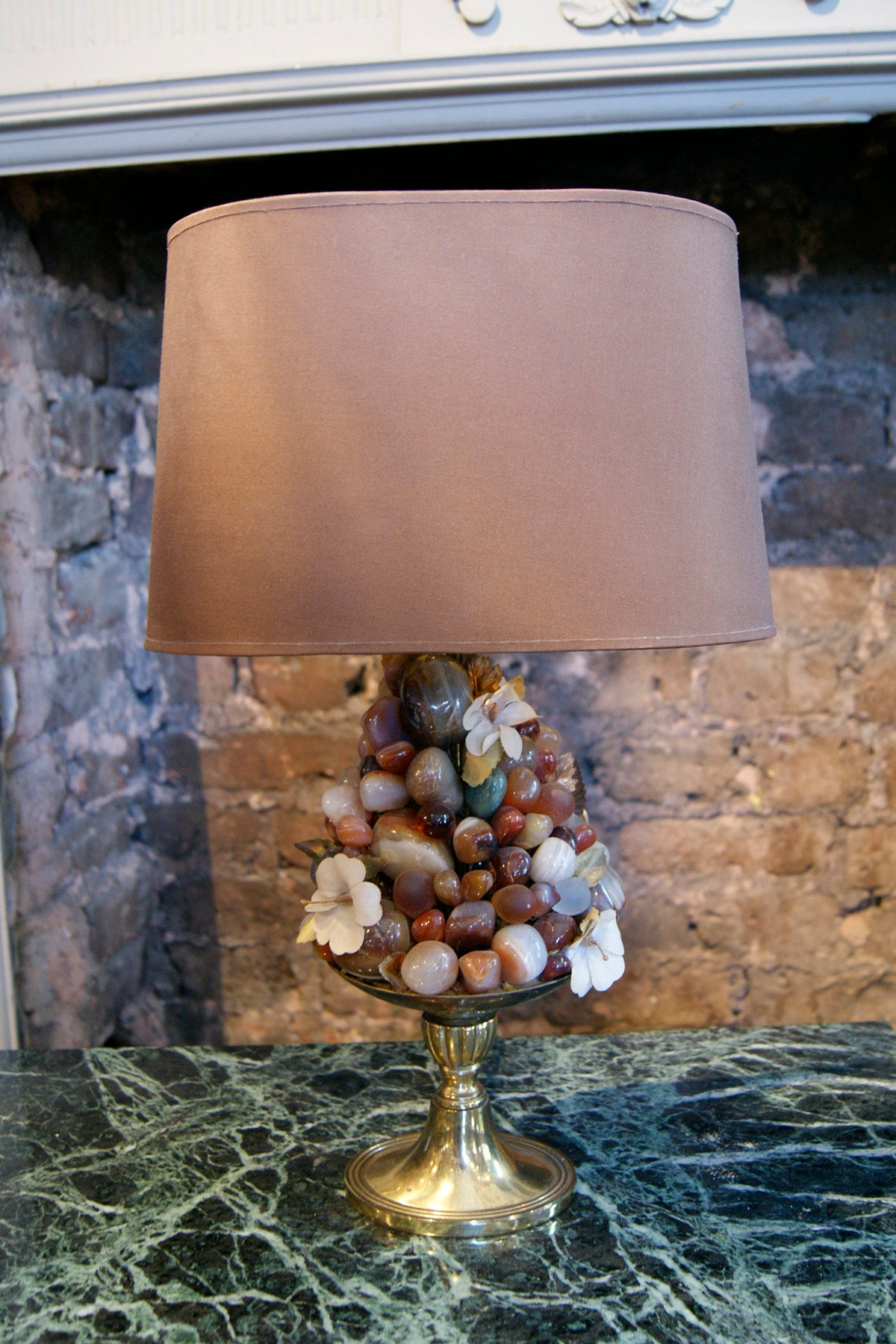 Semi precious stone and Agate Table Lamp circa 1950