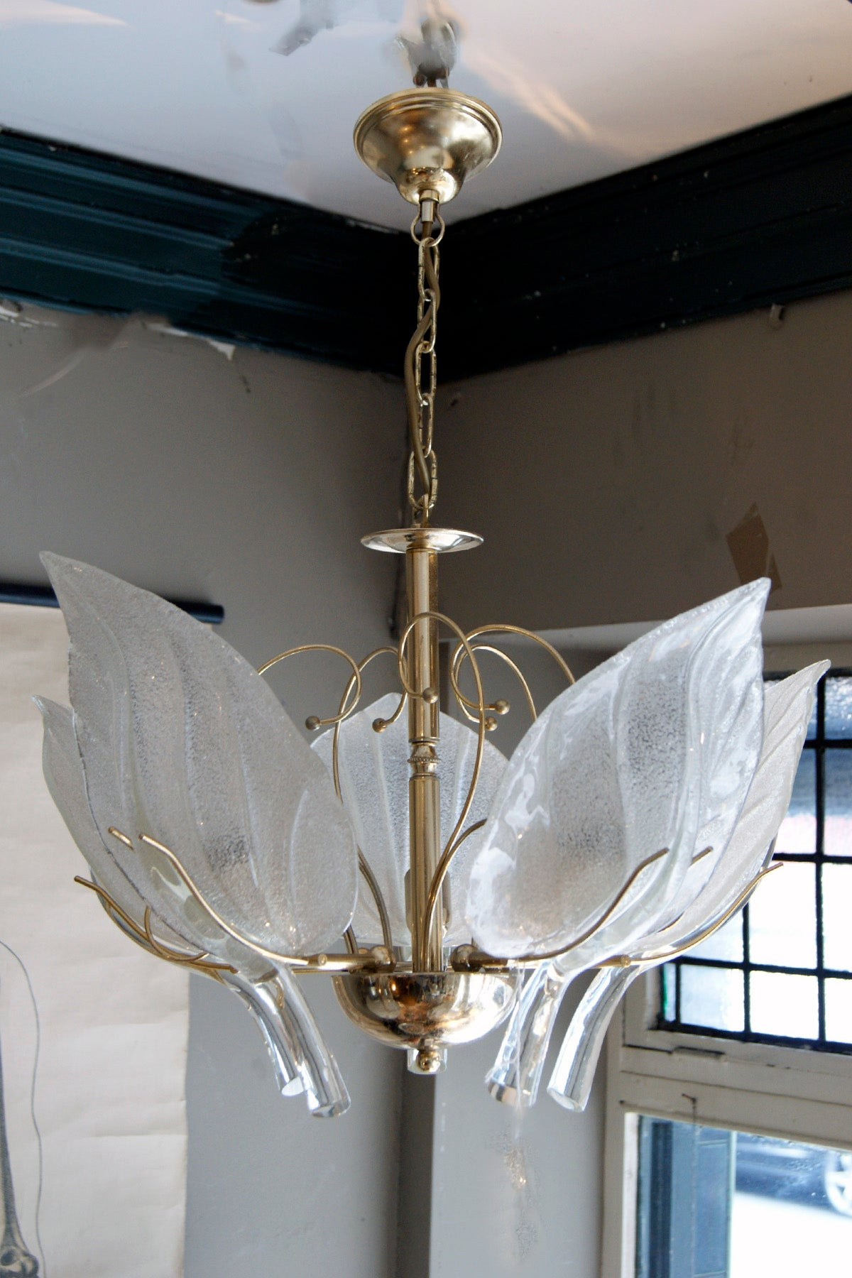 Murano Five Leaf Chandelier