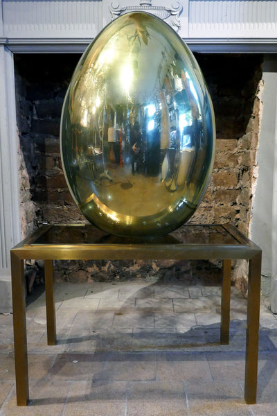 Gold Egg Lamp