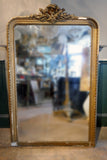 Distressed Large French Mirror with Mercury Glass Plate circa 1890