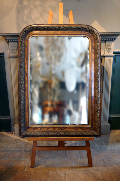 French Mirror with Original Faux Wood Effect circa 1900
