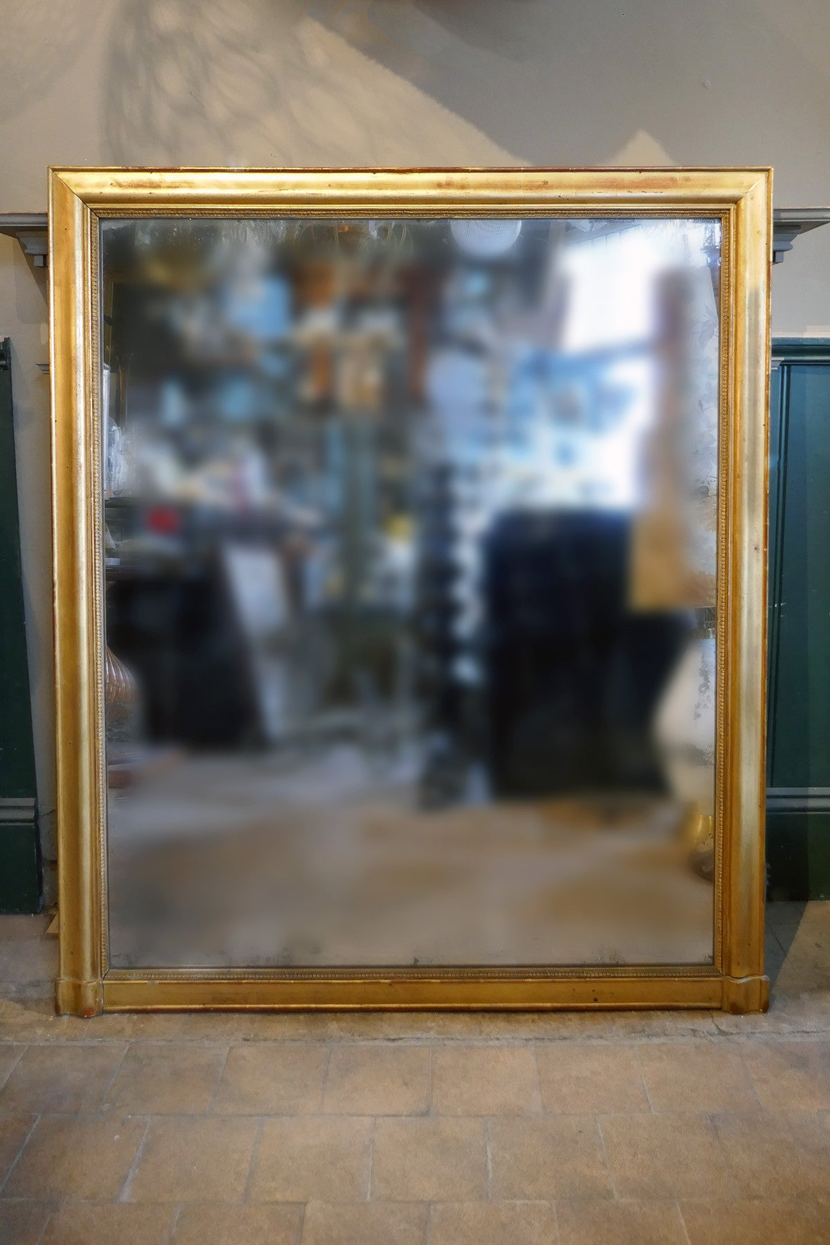 Imposing, Squared French Wall Mirror