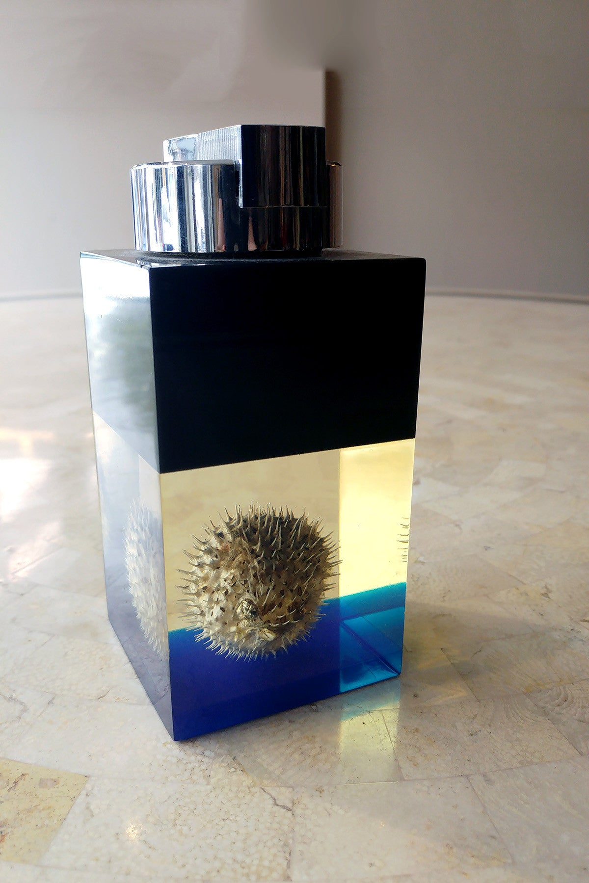 X Unusual Lighter with Encased Pufferfish