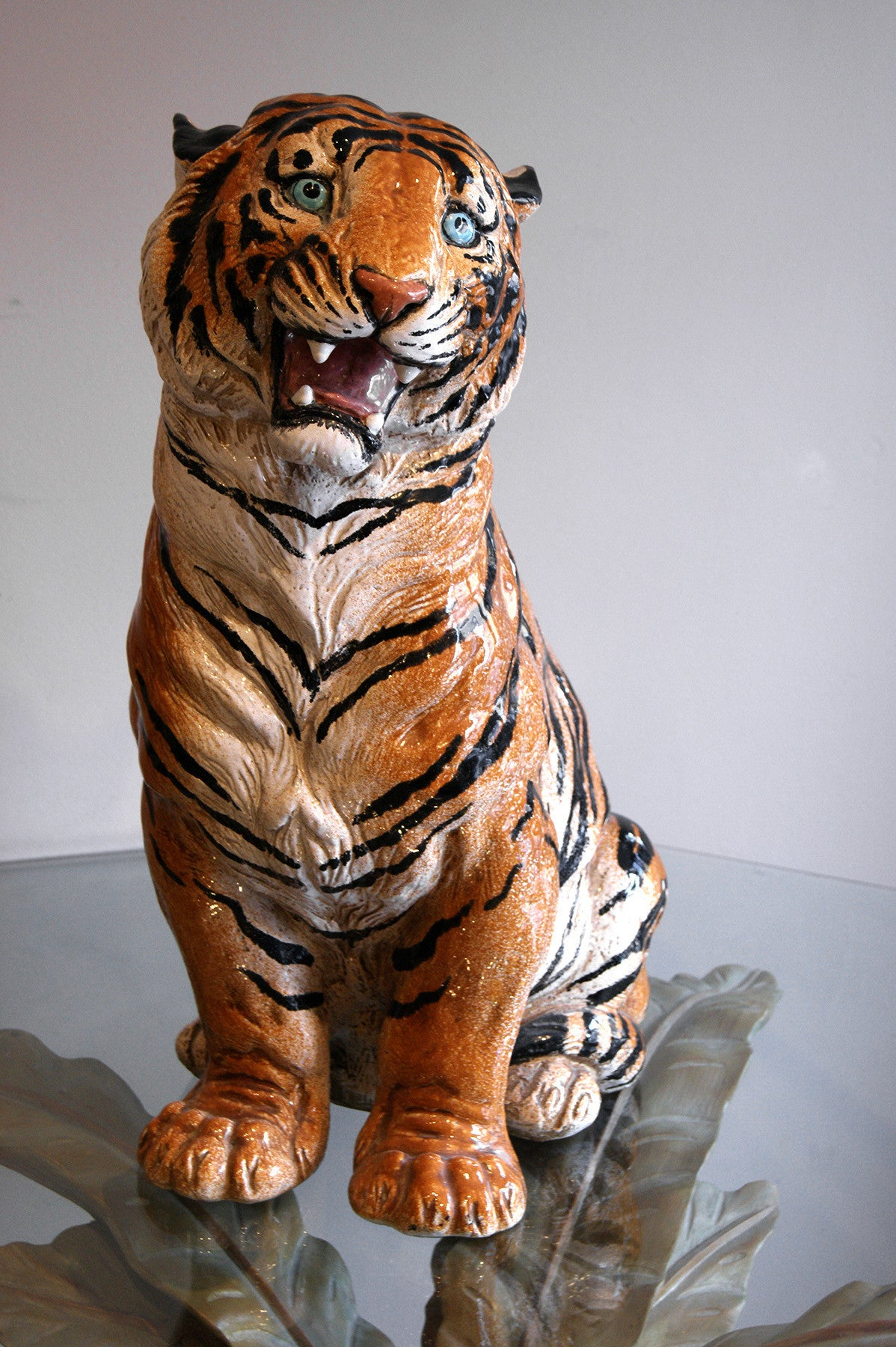 X Italian Ceramic  model of a Tiger circa 1970