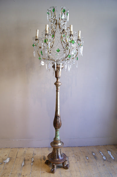 Decorative itallian 'chandelier' floor lamp circa 1940