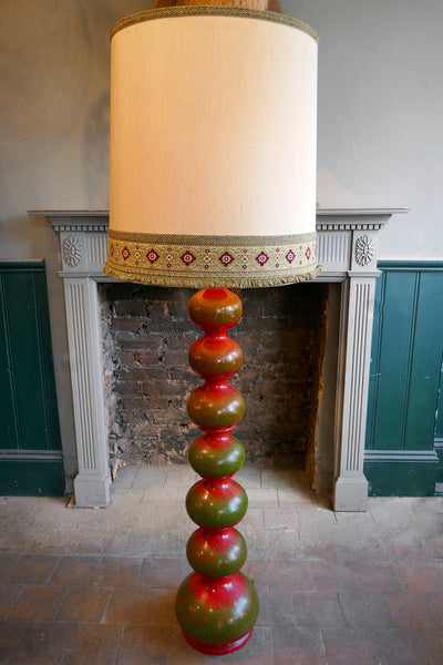 Large Red Ceramic Floor Lamp