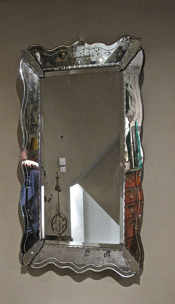 Large 1950's french venetian style mirror.
