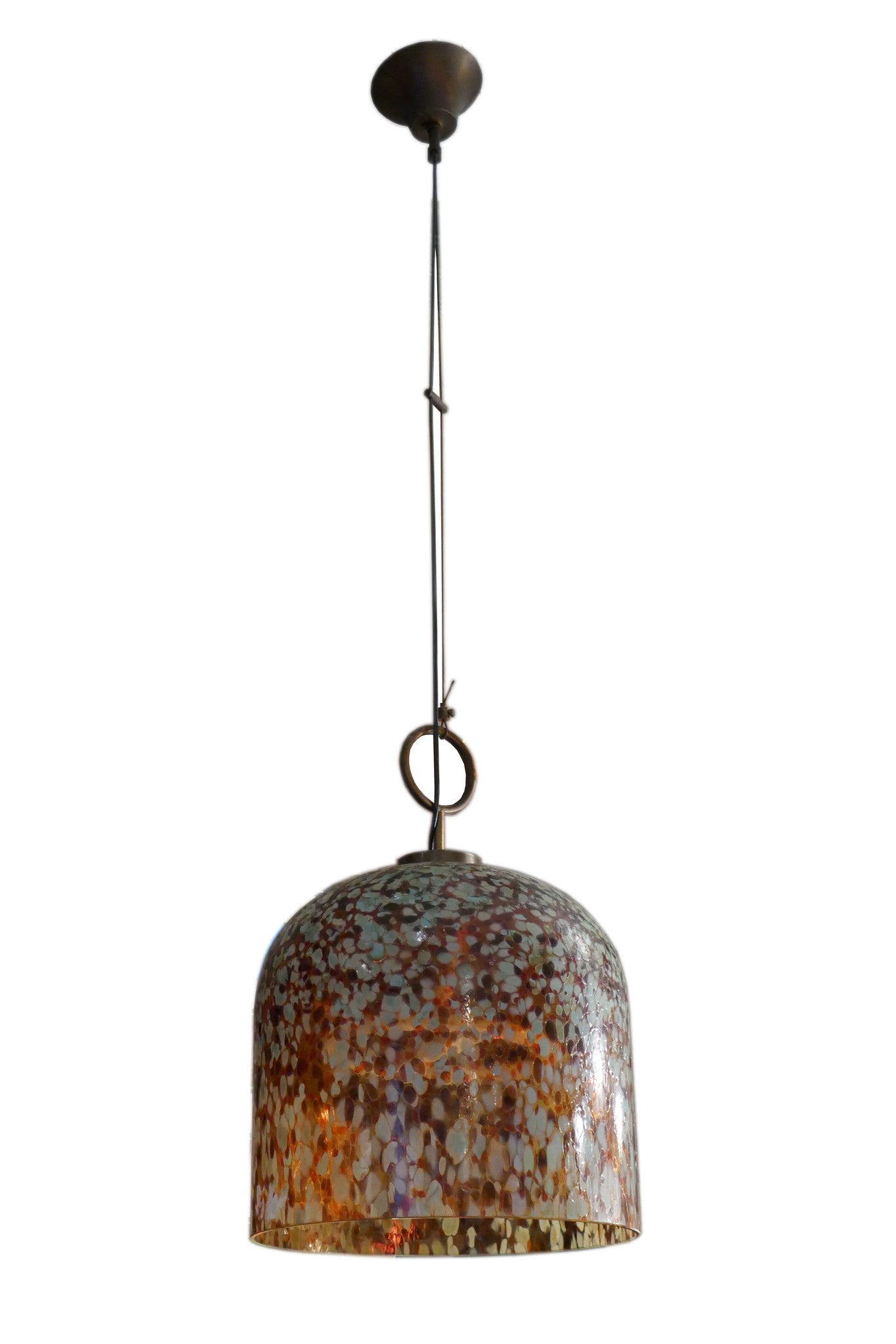 X Amazing multicolored  Murano glass hanging light