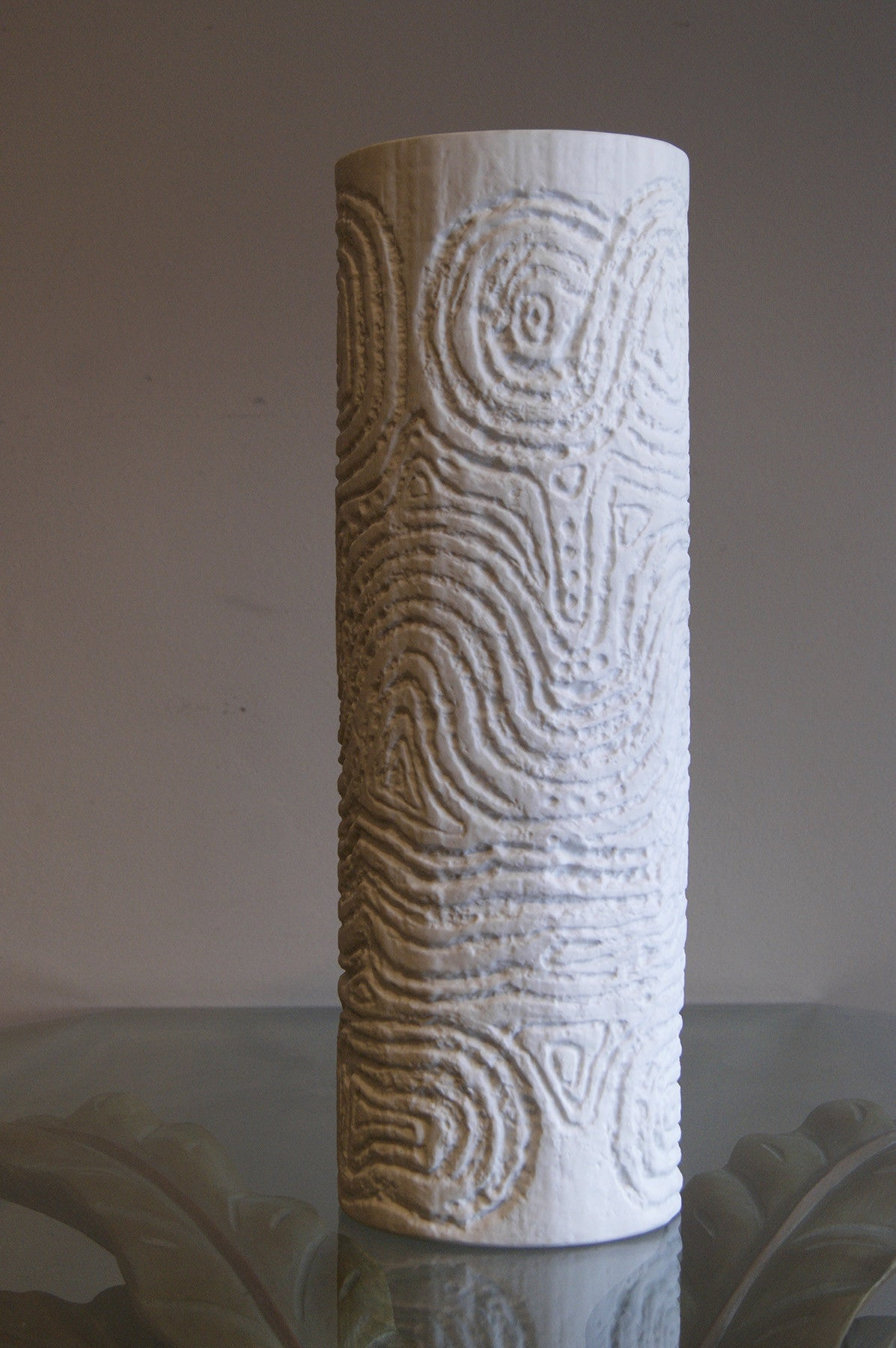 51 cm Large cylindrical Ceramic Vase by Rosenthal circa 1960