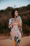 Chelsey Waterproof Parka-Abstract Paint Print - ILAN LIFE SA