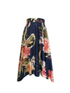Cecile Skirt Spring Dahlias on Navy - ILAN LIFE SA
