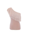 Elena one shoulder frill Top Blush - ILAN LIFE SA