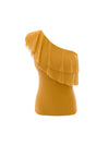 Elena one shoulder frill Top Yellow - ILAN LIFE SA