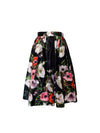 Kristi skirt Anemone on black - ILAN LIFE SA