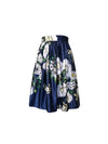 Kristi skirt Exclusive Vintage Blooms Print on Navy - ILAN LIFE SA