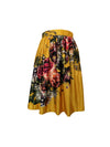 Kristi skirt Exclusive Country Blooms on Yellow Ochre - ILAN LIFE SA