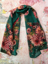 Dahlias on Emerald Scarves - ILAN LIFE SA